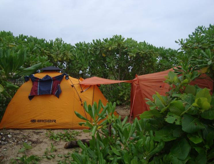 Camping di area Pantai